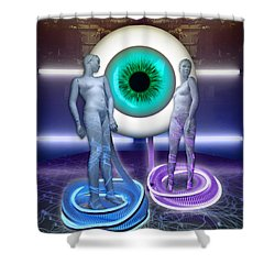 Electric Lady Eye Shower Curtain