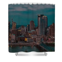 Electric Steel City Shower Curtain