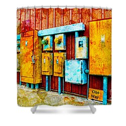 Electrical Boxes Iv Shower Curtain