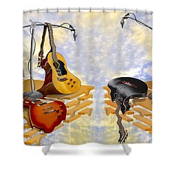 Electrical Meltdown 3 Shower Curtain by Mike McGlothlen