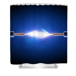 Electric Current / Energy / Transfer Shower Curtain