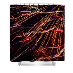 Electricity Shower Curtain by Sara Frank