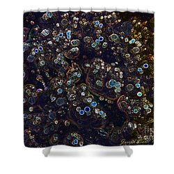 Electrified Neon Bubbles Shower Curtain