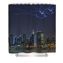Electrifying New York City Shower Curtain by Susan Candelario