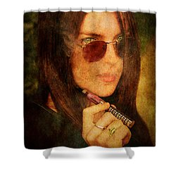 Electronic Smoking Shower Curtain by Loriental Photography
