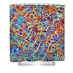Electronics For Cats Shower Curtain