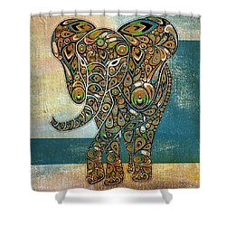 Elefantos - 01ac03at03b Shower Curtain by Variance Collections