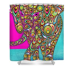 Elefantos - Bg01ac02 Shower Curtain by Variance Collections
