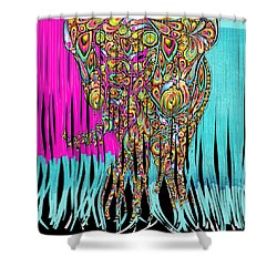 Elefantos - Cr01ac02 Shower Curtain by Variance Collections