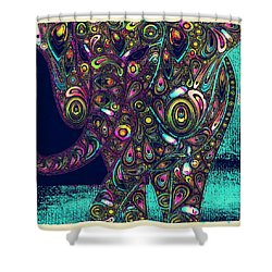 Elefantos - Ptjs01a Shower Curtain by Variance Collections