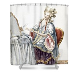 Elegant Lady At Her Dressing Table Shower Curtain by Pierre Thomas Le Clerc