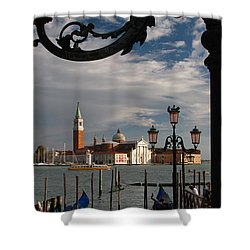 Elegant Lampost Shower Curtain