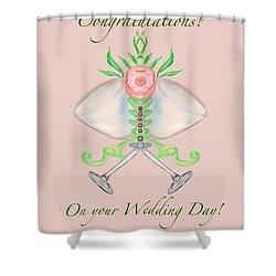 Shower Curtain featuring the digital art Elegant Wedding by Christine Fournier
