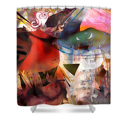 Elements Of Estrogen  Shower Curtain