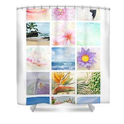 Elements Shower Curtain by Sharon Mau