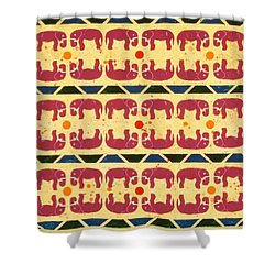 Elephant Dance Shower Curtain