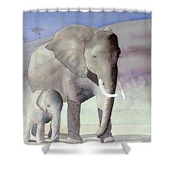 Elephant Family Shower Curtain