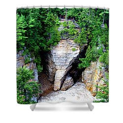 Shower Curtain featuring the photograph Elephant Head Rock by Patti Whitten