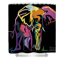 Elephant In Colour Shower Curtain