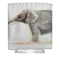 Elephant  Shower Curtain by Jung Sook Nam