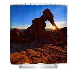 Elephant Sunrise Shower Curtain