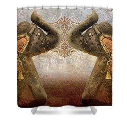 Elephants I Shower Curtain