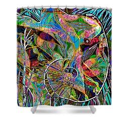 Elephant's Kaleidoscope Shower Curtain