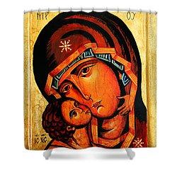 Eleusa Icon Shower Curtain by Ryszard Sleczka