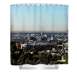 Elevated View Of City, Los Angeles Shower Curtain