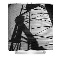 Elevator Shadow Shower Curtain
