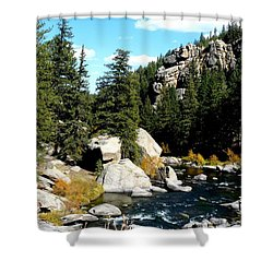 Eleven Mile Canyon Stream Shower Curtain