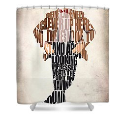 Eleventh Doctor - Doctor Who Shower Curtain by Ayse and Deniz