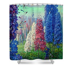 Elf And Fantastic Flowers Shower Curtain