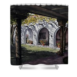 Elfrida Courtyard Shower Curtain