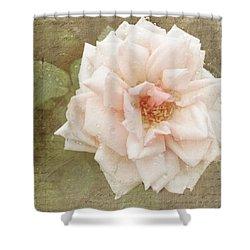 Elie Beauvillain Rose Textured Art Shower Curtain
