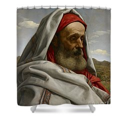 Eliezer Of Damascus Shower Curtain by William Dyce
