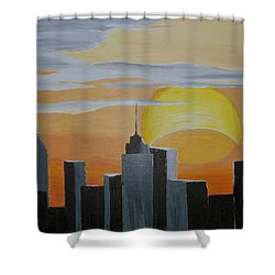 Elipse At Sunrise Shower Curtain