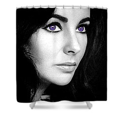 Elizabeth Taylor Shower Curtain by George Pedro