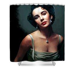 Elizabeth Taylor Shower Curtain by Paul Tagliamonte