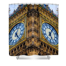 Shower Curtain featuring the photograph Elizabeth Tower Clock by Tim Stanley