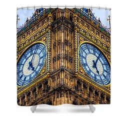 Elizabeth Tower Clock Shower Curtain