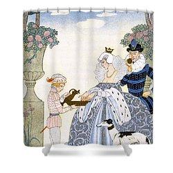 Elizabethan England Shower Curtain by Georges Barbier