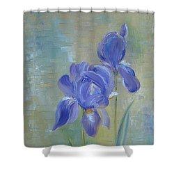 Elizabeth's Irises Shower Curtain by Judith Rhue
