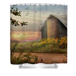 Elk County Shower Curtain by Lori Deiter