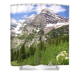 Elk Mountains Shower Curtain by Eric Glaser