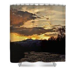 Elk River N Pilots Nob Sunset Ver 2 Shower Curtain