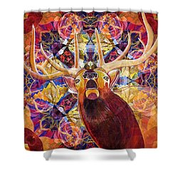 Elk Spirits In The Garden Shower Curtain by Joseph J Stevens