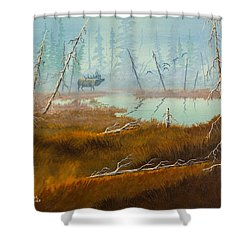 Elk Swamp Shower Curtain