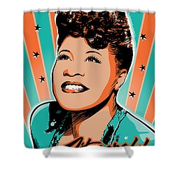 Ella Fitzgerald Pop Art Shower Curtain by Jim Zahniser
