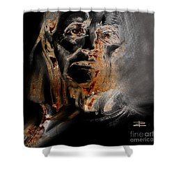 Shower Curtain featuring the drawing Elle by Paul Davenport